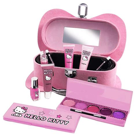 hello kitty pink travel cosmetic make up beauty vanity