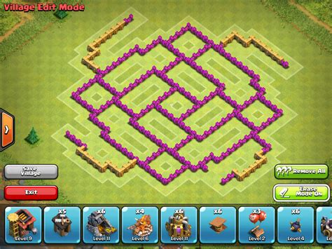 layout coc th8 th8 coc clash of clans th8 farming base layout http