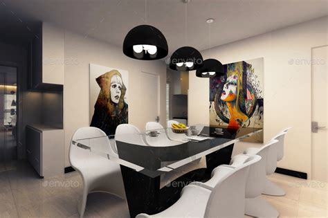 Mockup Interior Design interior with poster frames mockup vol 1 by wutip
