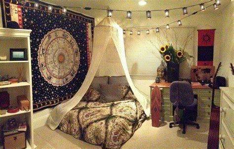 hippie schlafzimmerdekor hippie room mandala alineymarques pinteres