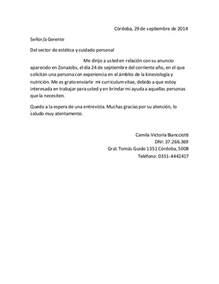 Curriculum Vitae Ingles by Curriculum Vitae Y Carta De Presentaci 243 N