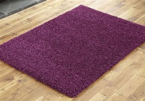 Aubergine Rugs by New Large Medium Small Aubergine Colour Thick 5cm High Pile Shaggy Rugs Runners Ebay