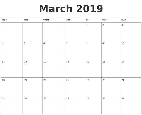 printable calendar april 2018 to march 2019 march 2019 calendar printable