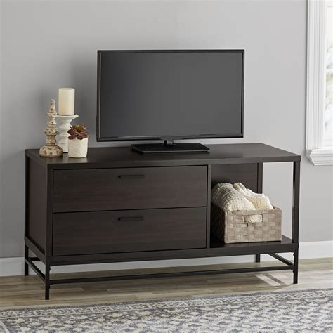 mainstays  drawer wood  metal tv stand