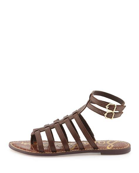 gladiator sandals brown sam edelman gilda flat leather gladiator sandal