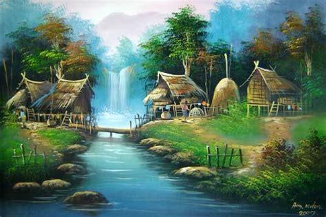 Home Temple Decoration by Acrylic Landscape Paintings The Log Bridge