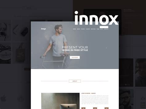 creative agency portfolio template design psd at