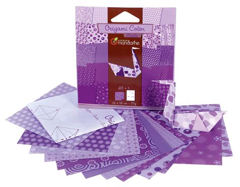 How To Make Paper Violets - origami color purple paper 12x12cm