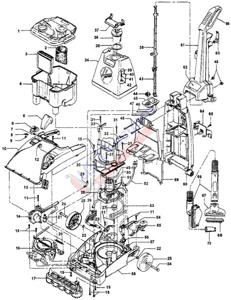 hoover floormate parts diagram hoover f5858 steamvac upright extractor parts usa vacuum