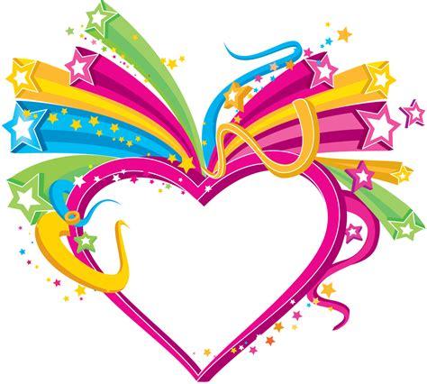 recortar imagenes en png corazones multicolores png