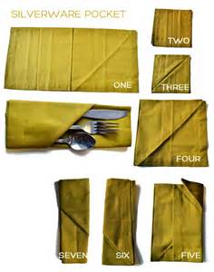 How To Fold A Paper Napkin With Silverware - paper napkin folding silverware pocket