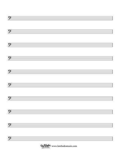 music staff paper template