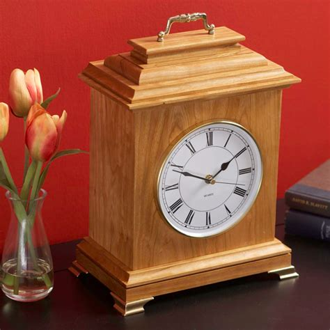 woodworking clocks mantel clock woodworking plan from wood magazine