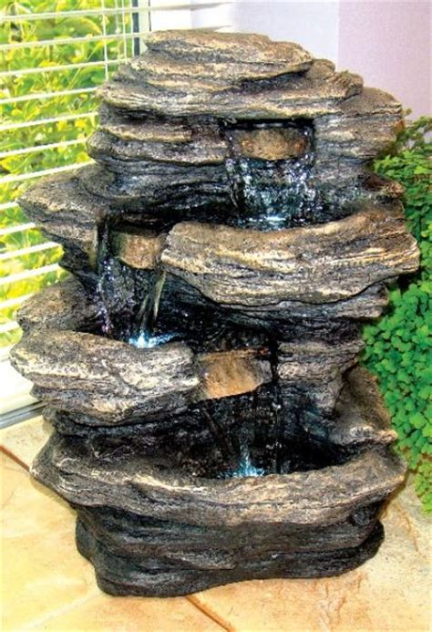 mini slate falls indoor water feature with lights 163 29 99