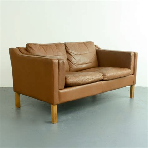 brown leather two seater sofa two seater sofa in brown leather 1970s for sale at pamono