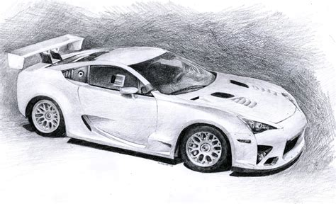 lexus lfa drawing lexus lfa racing by sth pl on deviantart
