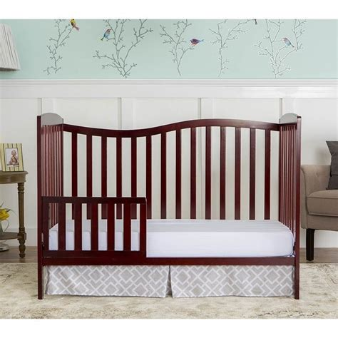 Convertible Crib Cherry On Me Chelsea 5 In 1 Convertible Crib In Cherry 680 C