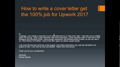 how to write a cover letter for entry level position cover letter for data entry in upwork tomyumtumweb
