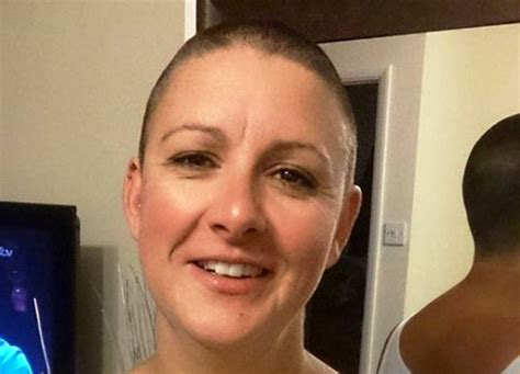 female headshave this month yeovil news tracy coining in the cash after charity head