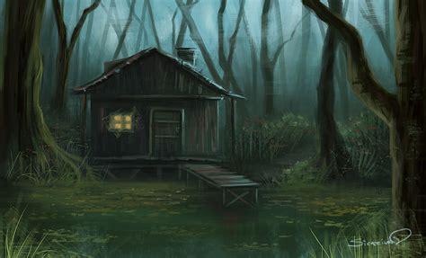 swamp house speedpaint by sicarius8 on deviantart
