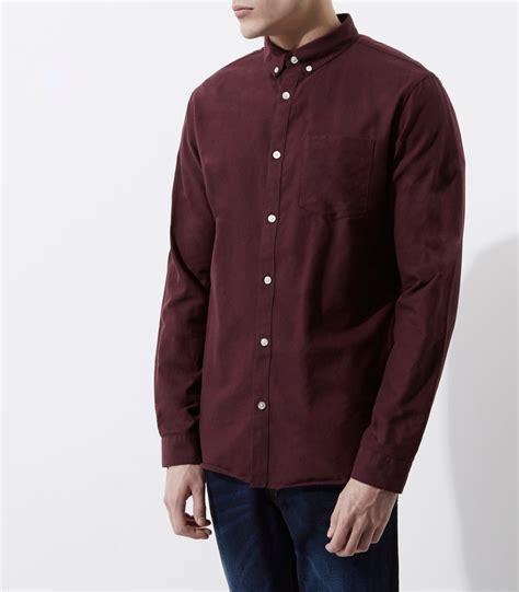 Sleeve Button Shirt burgundy sleeve oxford shirt sleeve shirts