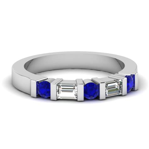 Get Mesmerized By Eternal Blue Sapphire Wedding Rings