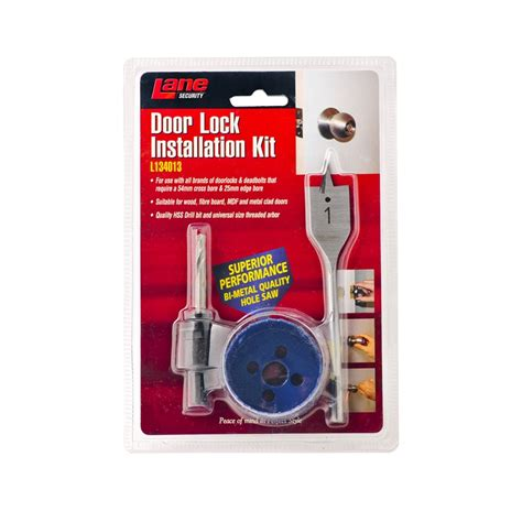 security 54mm door lock installation kit bunnings