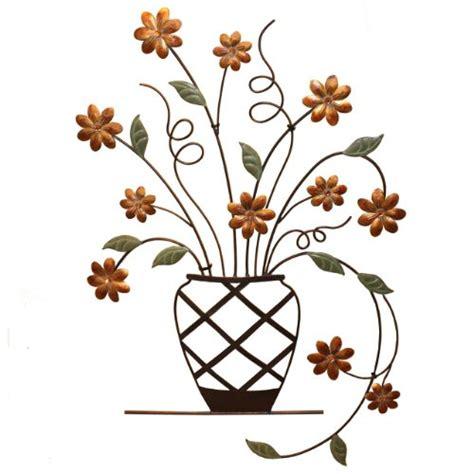 Fetco Home Decor beautiful tuscan bronze metal flowers design home decor