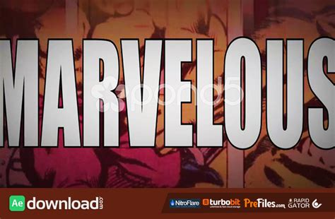 Marvelous A Marvel Superhero Comic Themed Intro Opener Free After Effects Template Marvel After Effects Template