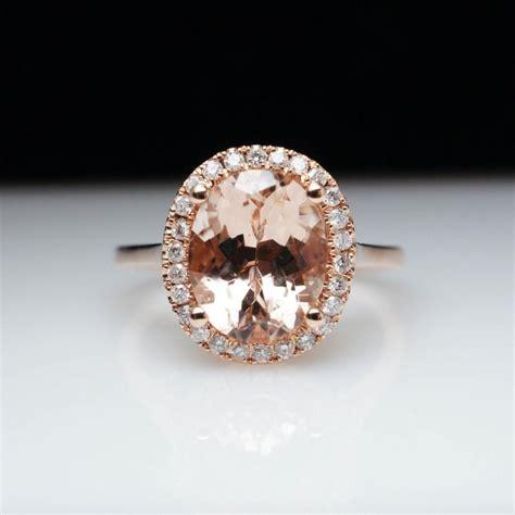 morganite engagement ring gold oval morganite halo engagement ring in 14k gold morganite ring morganite engagement