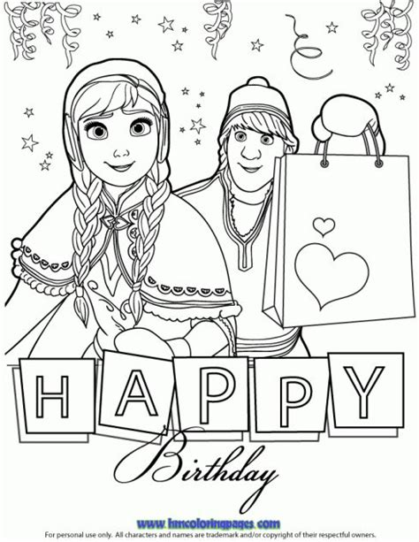 happy birthday olaf coloring page 24 best disney frozen birthday coloring pages images on