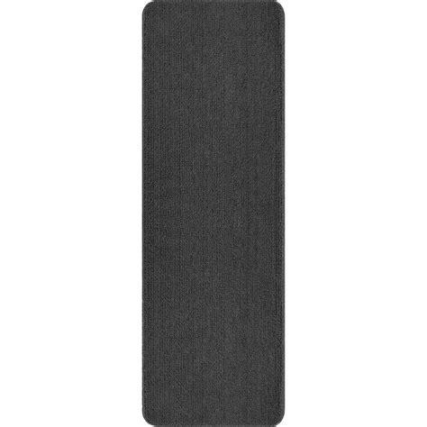 non slip bathroom rugs ottomanson solid design gray 2 ft 2 in x 6 ft non slip