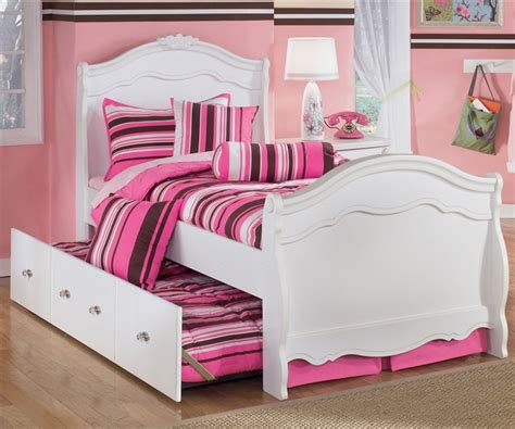 trundle bed for girls exquisite twin sleigh bed and trundle ashley furniture