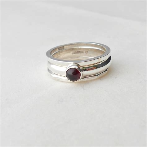 etagere 3 stöckig silber stacking rings set of 3 size r the busy box room