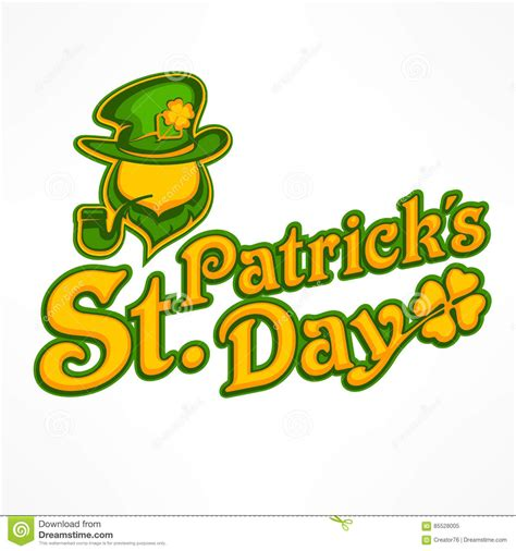 design a logo st st patricks day logo design with leprechaun man vector