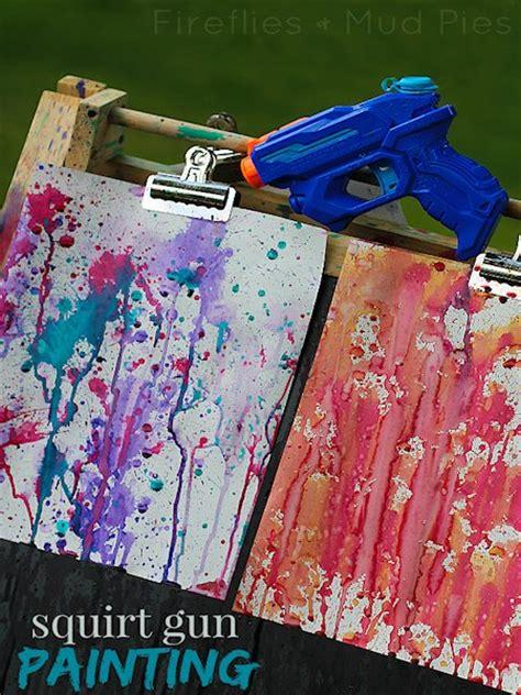 squirt gun painting lesson plans