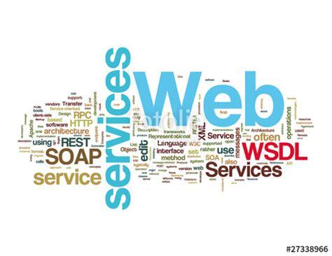 imagenes web services quot web services word tags on white background quot fotos de