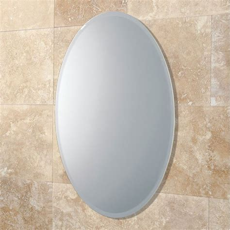 oval mirrors for bathrooms hib alfera oval bathroom mirror