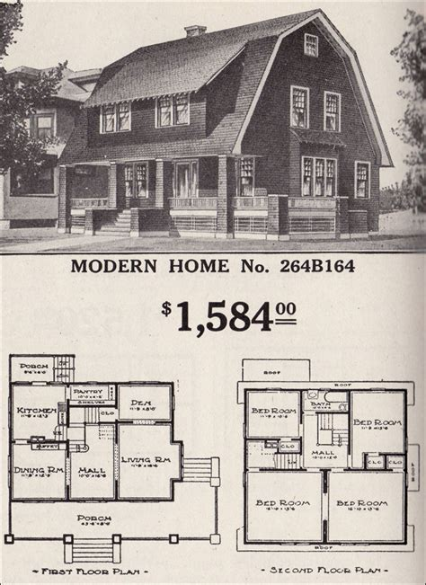dutch colonial house plans dutch colonial revival sears modern home no 264b164