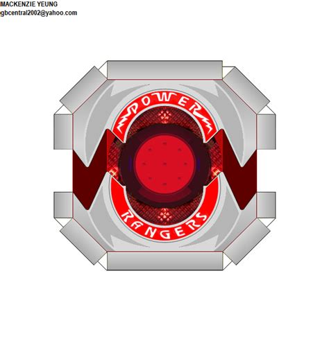 Power Rangers Morpher Papercraft - power morpher plate by 80sguy on deviantart