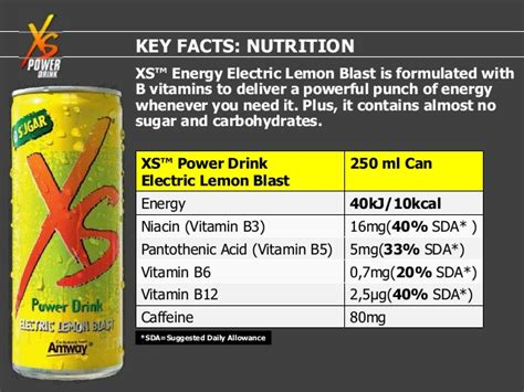 energy drink xs ingredients energy and endurance xs juiced power drink electric