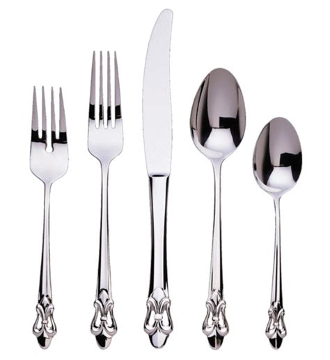 Elegant Dining Room Set by Fleur De Lis Collection Silverware Set In Silverware