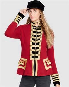 Chaqueta tipo militar de mujer denim amp supply ralph lauren roja