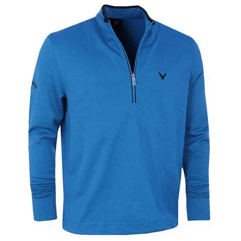 Ziper Waffle callaway golf mens waffle fleece embroidered chev sweater 1 4 zip pullover ebay