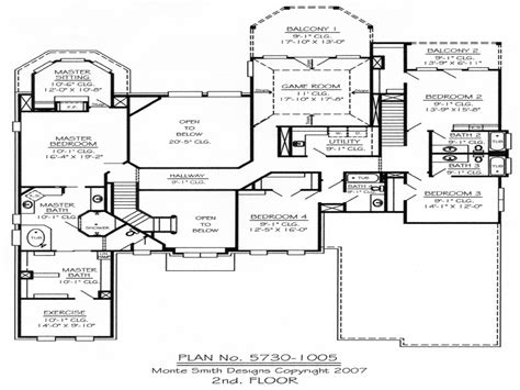 5 story house plans master bedroom two story deck 5 bedroom 2 story house