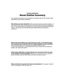 novel outline templates story outline sle 9 documents in pdf word