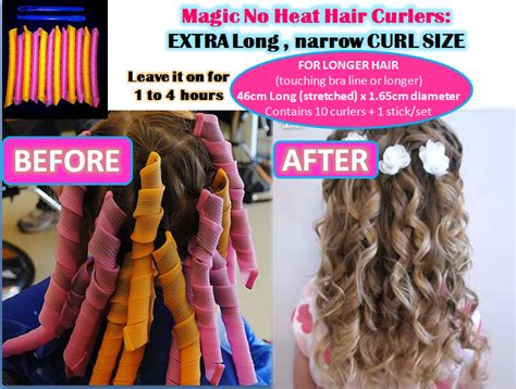 Hair Curler Without Heat by Magic No Heat Hair Curlers Standard Large And
