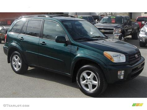 Toyota Green 2003 Rainforest Green Pearl Toyota Rav4 4wd 26505674