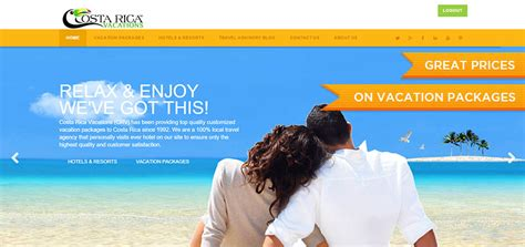 best vacation package costa rica vacation packages by crv