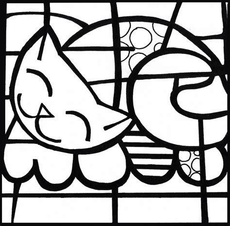 Romero Britto Coloring Pages free romero britto coloring pages